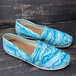"""Toms Classic """"Rock Geology"""" Slip-on Size 6"""